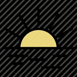 morning, sun, sunrise, sunset icon
