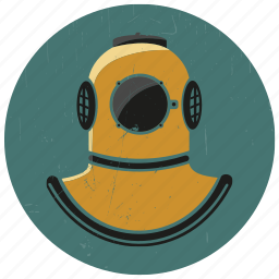diver, diver logo, diving, diving logo, diving suit, old diving suit, sea icon