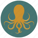 octopus, octopus logo, sea, sea animal, sea creature, sealife, underwater icon
