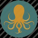 octopus, octopus logo, sea, sea animal, sea creature, sealife, underwater