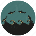 fish, sea, sea creature, sea life, sealife, water wave, wave icon