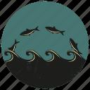 fish, sea, sea creature, sea life, sealife, water wave, wave icon