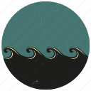 sea wave, sealife, surf, surfing, water wave, wave icon