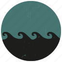 lake, sealife, surf, surfing, water wave, wave icon