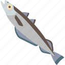 animal, fish, food, sea, water icon