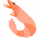animal, fish, food, sea, shrimp icon