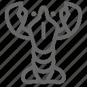 life, lobster, sea, shrimp icon