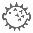 fish, life, puffer, sea icon