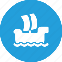 boat, ocean, sea, ship, surfing, wind icon