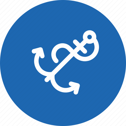 anchor, boat, ocean, sea, ship, travel icon