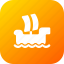 boat, ocean, sea, ship, windsurfing icon