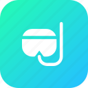 diving, goggles, ocean, scuba, sea, swim, underwater icon