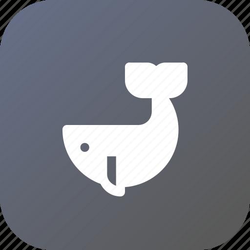 animal, food, ocean, sea, whale icon