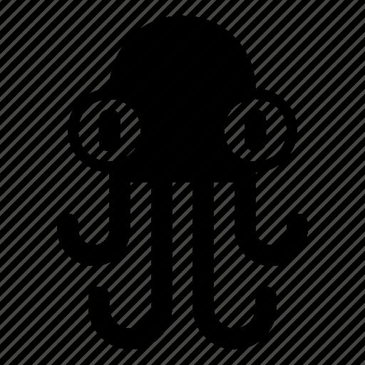 cartoon octopus, fish, octopus, sea animal, sea octopus icon