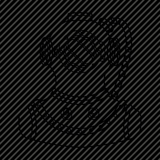 avatar, diver, man, scuba, scuba diver icon