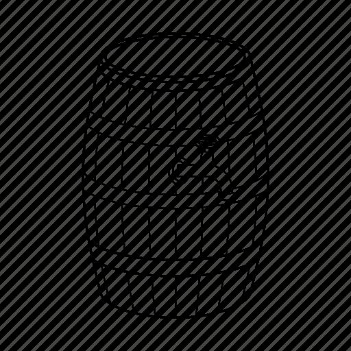 barrel, beer, cask, tank, wine icon icon