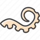filled, food, outline, seafood, squid, tentacle icon