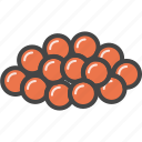 caviar, filled, fishseafood, food, outline icon