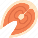 food, salmon, seafood icon