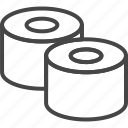 food, line, outline, roll, seafood, sushi icon