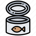 canned, fish, seafood, shellfish icon