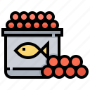 animal, caviar, egg, fish, seafood icon