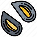 mussel, seafood, shell, shellfish icon