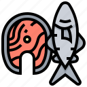 fish, healthy, salmon, seafood, steak icon