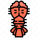 crayfish, lobster, prawn, seafood, shrimp icon
