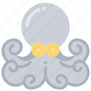 animal, food, octopus, seafood, squid, tentacle icon