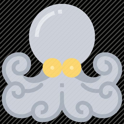 animal, food, octopus, seafood, squid, tentacle icon