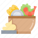 crayfish, prawn, salad, seafood, shrimp icon