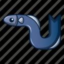 animal, aqua, cartoon, eel, electric, logo, object