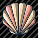 cartoon, logo, object, sea, seashell, shell, shellfish