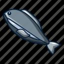 animal, aquarium, cartoon, fishing, logo, object, tuna