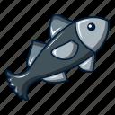 animal, aquarium, cartoon, fish, logo, object, small