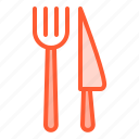 cutlery, fork, kit, knife, utensil icon