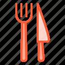 cutlery, fork, kit, knife, utensil