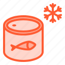 container, freeze, frozen, packaging, seafood icon