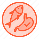 consumtion, fish, healthy, seafood, stomach icon