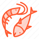 animal, fish, food, seafood, shrimp icon