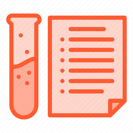 analytic, flask, laboratory, paper, tube icon