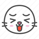 animal, avatar, emoji, face, seal
