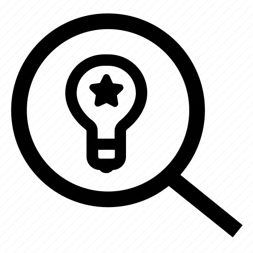 creativity, find solution, ideas, magnifying glass, search icon