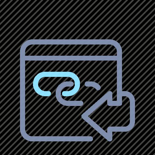Back, backlink, browser, internet, link, seo, url icon - Download on Iconfinder