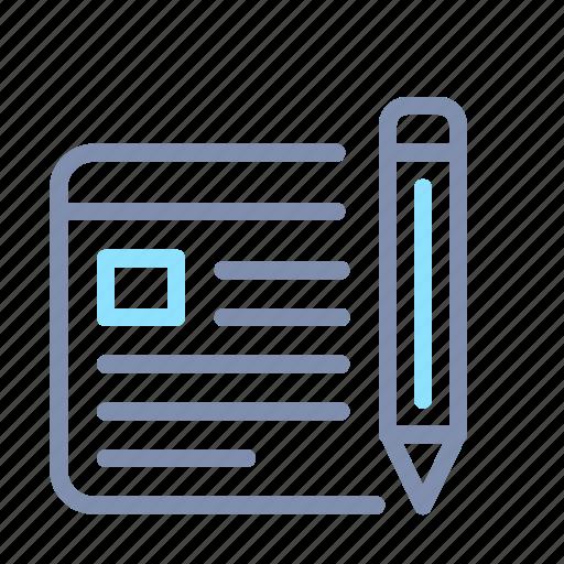 Blog, design, page, pencil, seo, web, website icon - Download on Iconfinder