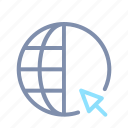 global, globe, international, internet, online, pointer, seo icon