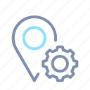 gear, location, map, navigation, optimization, pin, seo