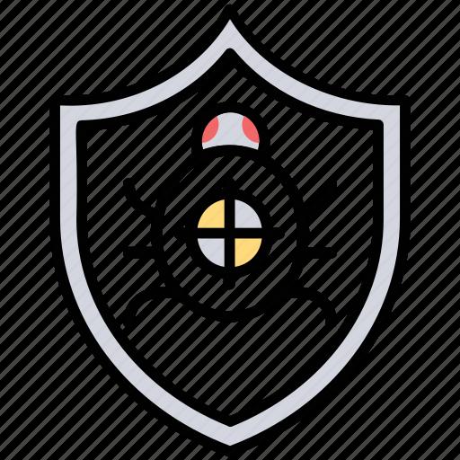 anti malware, anti spam, bug fixing, malicious software, virus protection, virus scan icon