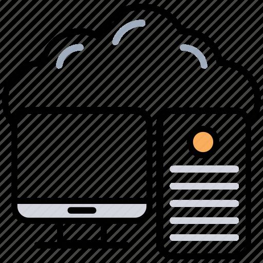 big data, cloud computing, cloud information, cloud storage, information technology icon